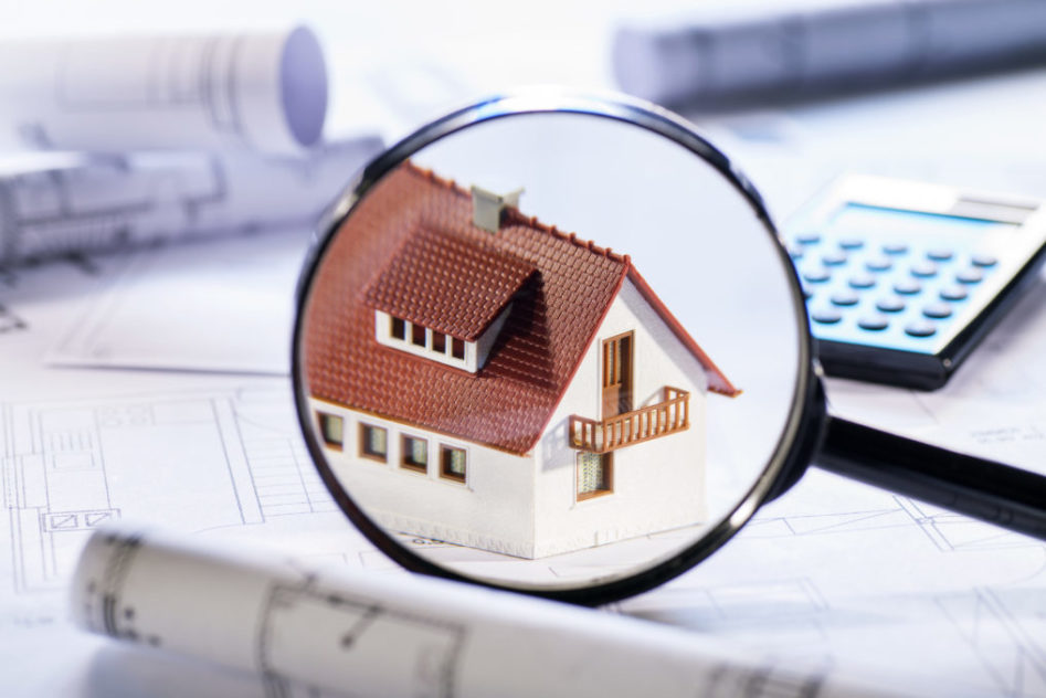 House under microscope for home inspection