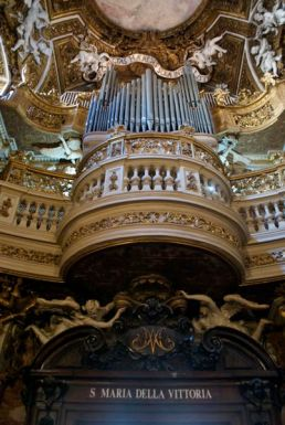 There really was a man playing the organ.