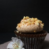Chocolate Coffee Cupcakes with Baileys Frosting and Macadamia Nuts (Guest Post)
