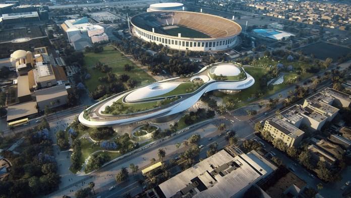 Дизайн музея для Exposition Park в Лос-Анжелесе