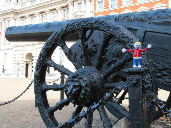 Mr. Bill hanging out at the horse guard.