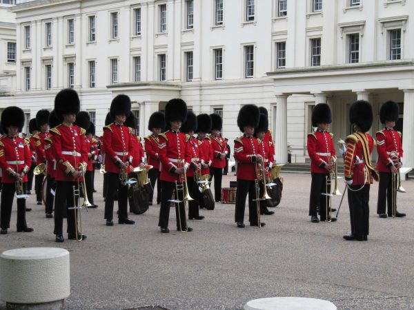 Getting ready for the Changing of the Guard.