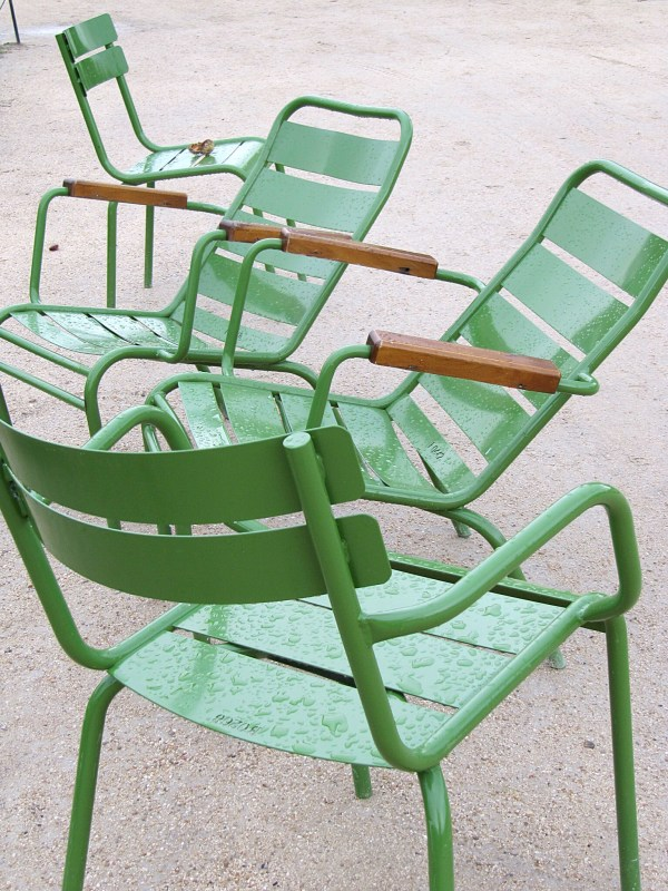 The chairs at Tuileries Garden.