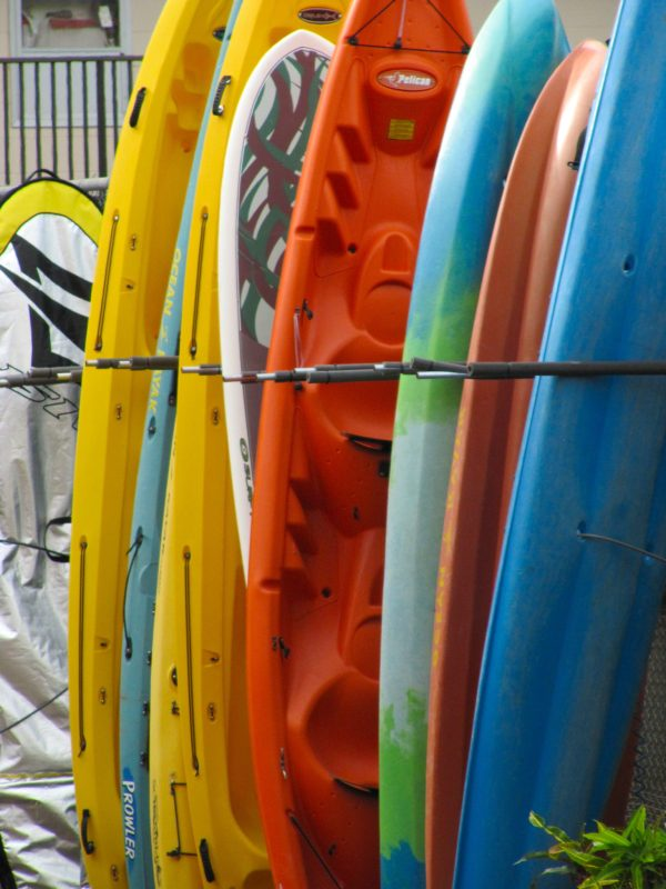 Stack of surf boards