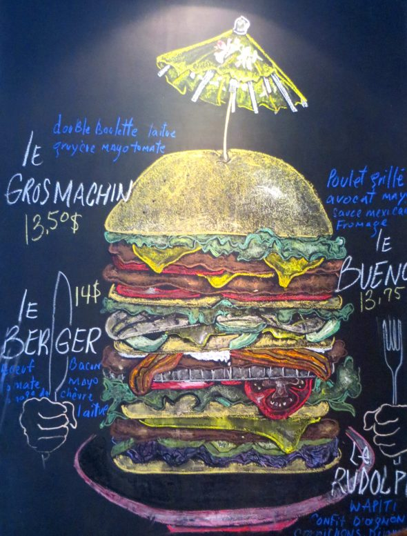 Chalkboard art at Frite Alors! Our favourite place for poutine and a burger. Yum.