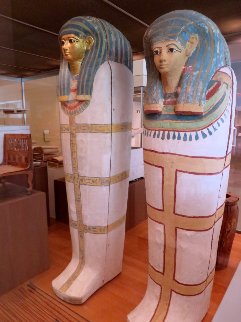 Coffin of Harmose and Anthropoid Coffin of a Woman, ca. 1479–1458 B.C., The Met.