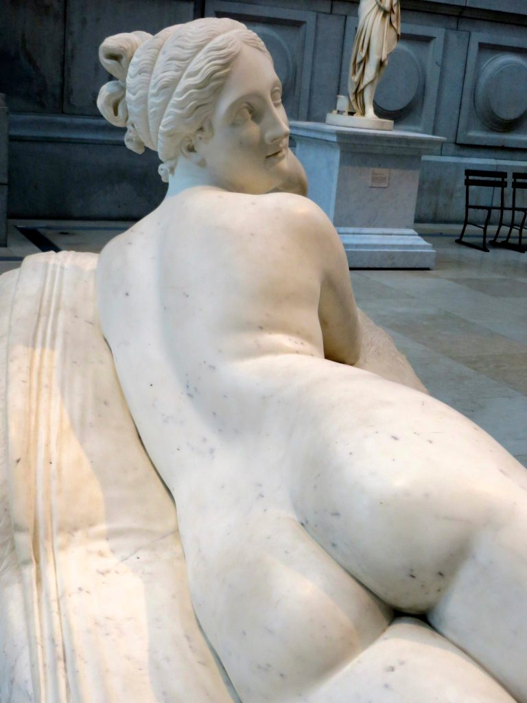 Relaxing nude at The Met.