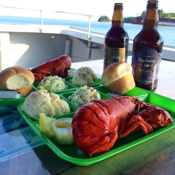 Lobster supper at Top Notch Lobster Tours, PEI.