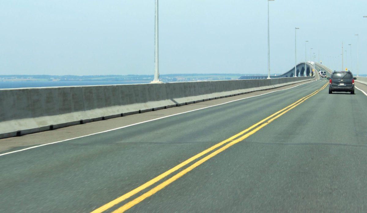 Crossing the Confederation Bridge.