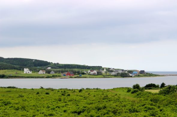 Driving the Cabot Trail, Cape Breton, Nova Scotia, Canada.