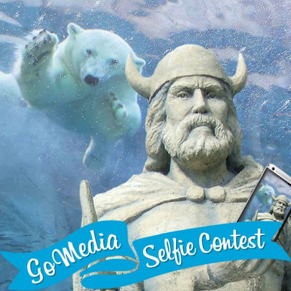 Viking, Assiniboine Park Zoo. GoMedia 2014 Selfie Contest for Travel Manitoba.