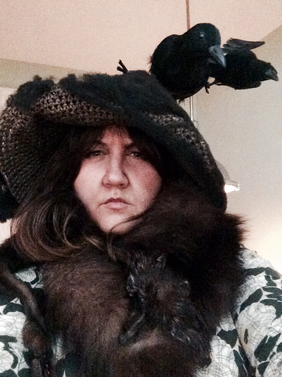 Me dressed as Snape dressed as Neville Longbottom's grandmother.