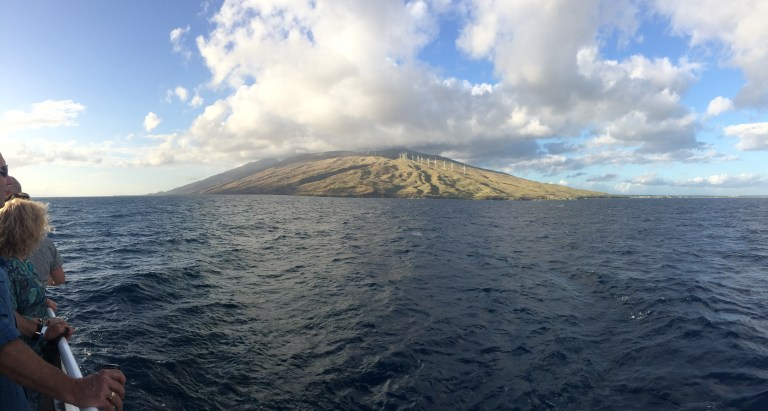 View of Maui from Island Rhythms cruise.