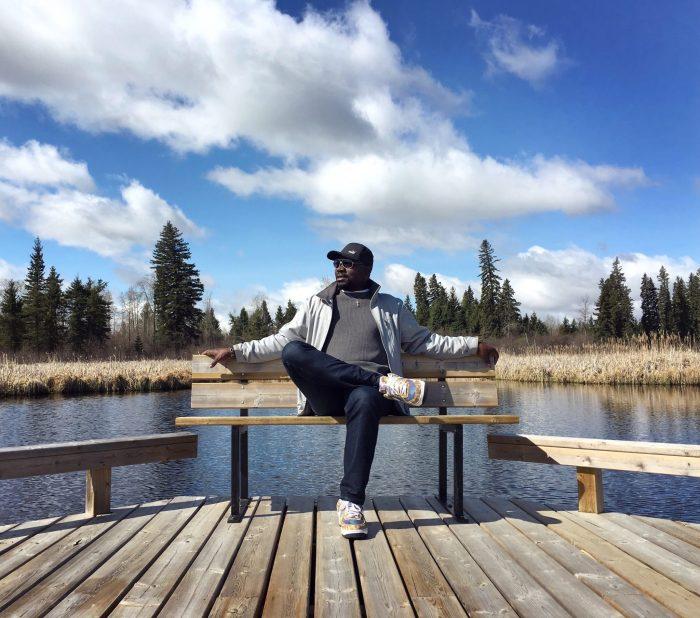 Relaxing on the floating boardwalks in Ominnik Marsh