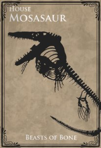 House Mosasaur, Game of Thrones banner
