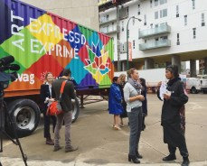 Coolest job ever. The @wag_ca is sending out mobile art studios next year to celebrate #canada150.