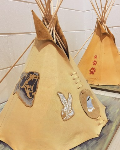 Tipis at Children of the Earth school.