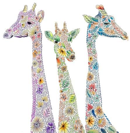 Giraffes, Animal Kingdom by Millie Marotta
