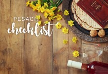 You Won't Forget a Thing! Your Erev Pesach and Seder Night Checklist. Need to make a list? We saved you the trouble. By Between Carpools