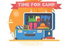 """Sending a child to sleepaway? Overwhelmed with all the """"stuff"""" they need? This list can help. If you're sending your child off to camp for the first time, it's hard to imagine all the things they'll need once they're away from home."""