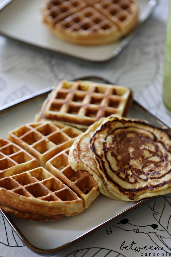 The best homemade waffle recipe. Kosher waffle or pancake recipe.