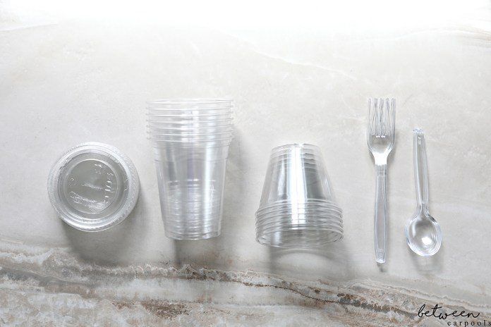 Using cold cups to pack lunches and snacks is also practical because they're affordable, come in different sizes, and you can use the straw hole for a fork or spoon.