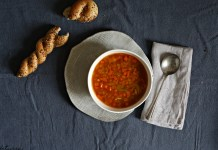 The house will smell good as it simmers, and it'll make you all warm, toasty, and satiated inside. Meet Red Lentil Soup.