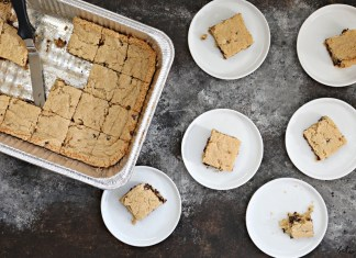 No Mixer Pesach Chocolate Chip Squares (Mix 'Em Right in the Pan). We know you love all this one pan stuff! Now you can make your cake and avoid washing any bowls...on Pesach too!