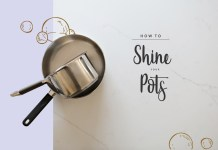 How to Get Your Pots to Shine. Get that grease off and let your pots shine before you pack them away for Pesach (or get 'em clean anytime!)