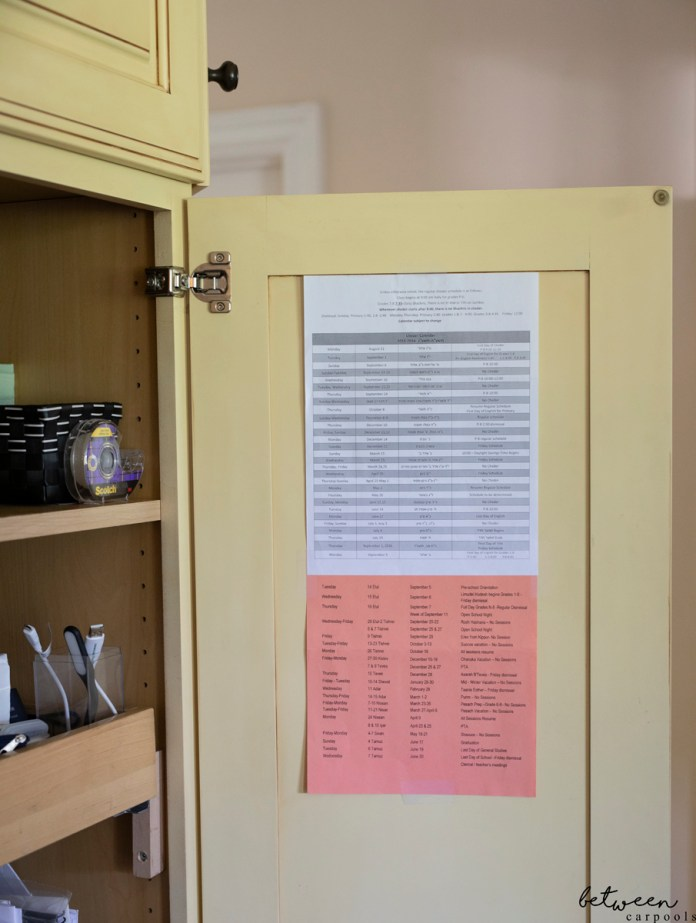 How to Store All Your Children's Calendars for Easy Access