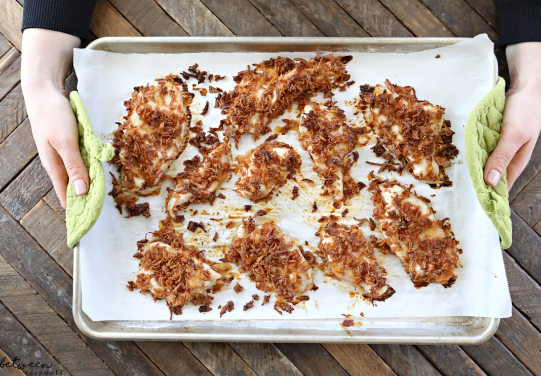 3-Ingredient, 3-Step Crispy Onion Chicken (Kid and Adult-Friendly!) Need a quick dinner in a jiffy that will please everyone?