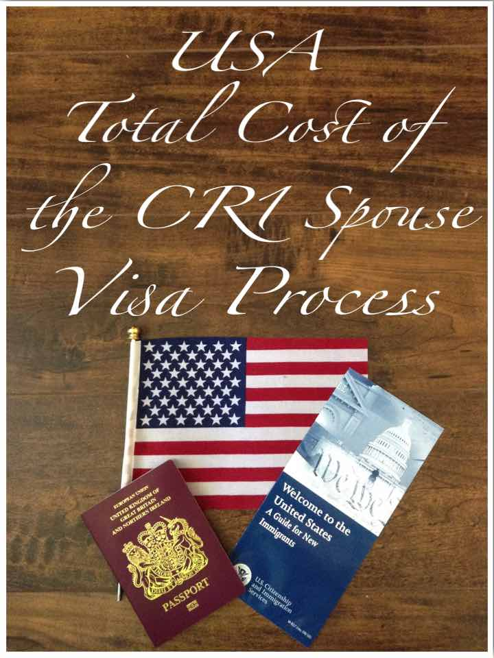 Total Cost of the USA CR1 Spouse Visa Process