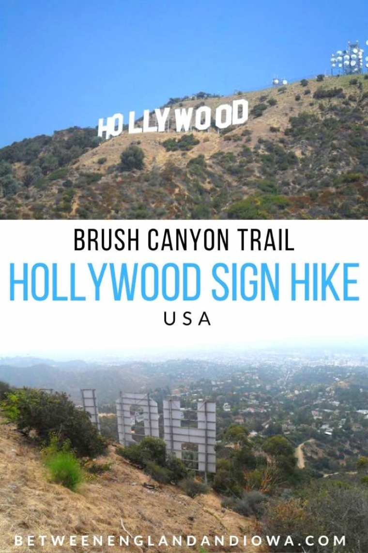 How to hike to the Hollywood Sign in LA USA via the Brush Canyon Trail