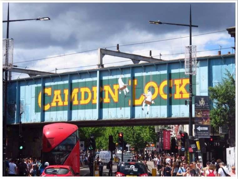 Camden Lock Bridge in London