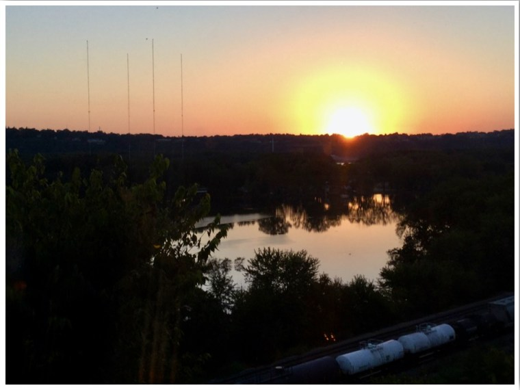 Timmerman's Supper Club Sunset East Dubuque Illinois USA