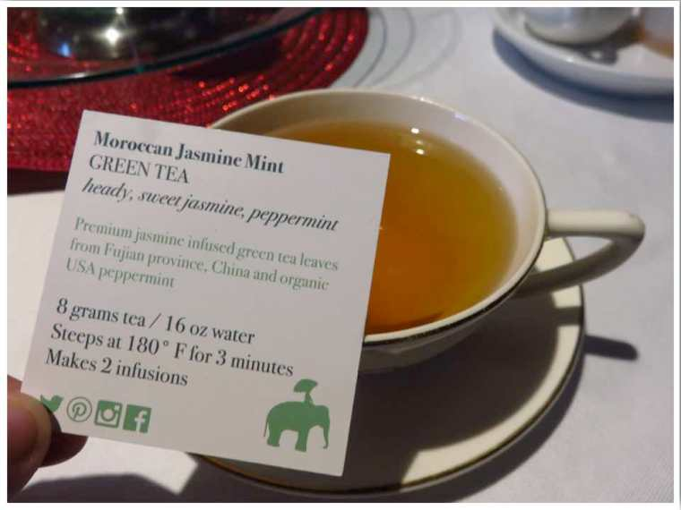 Moroccan Jasmine Mint Tea at the Inspire Cafe