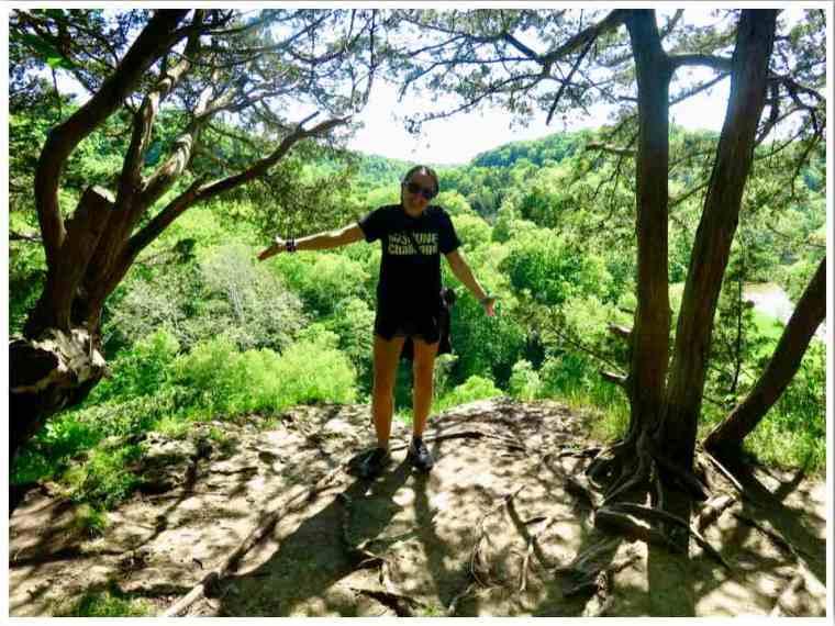 White Water Canyon Overlook Trail Iowa