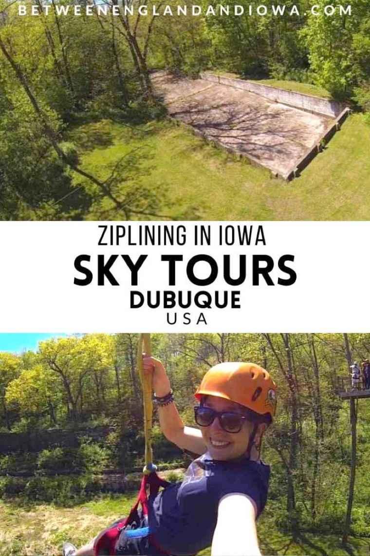 Zipling in Iowa Sky Tours Dubuque USA