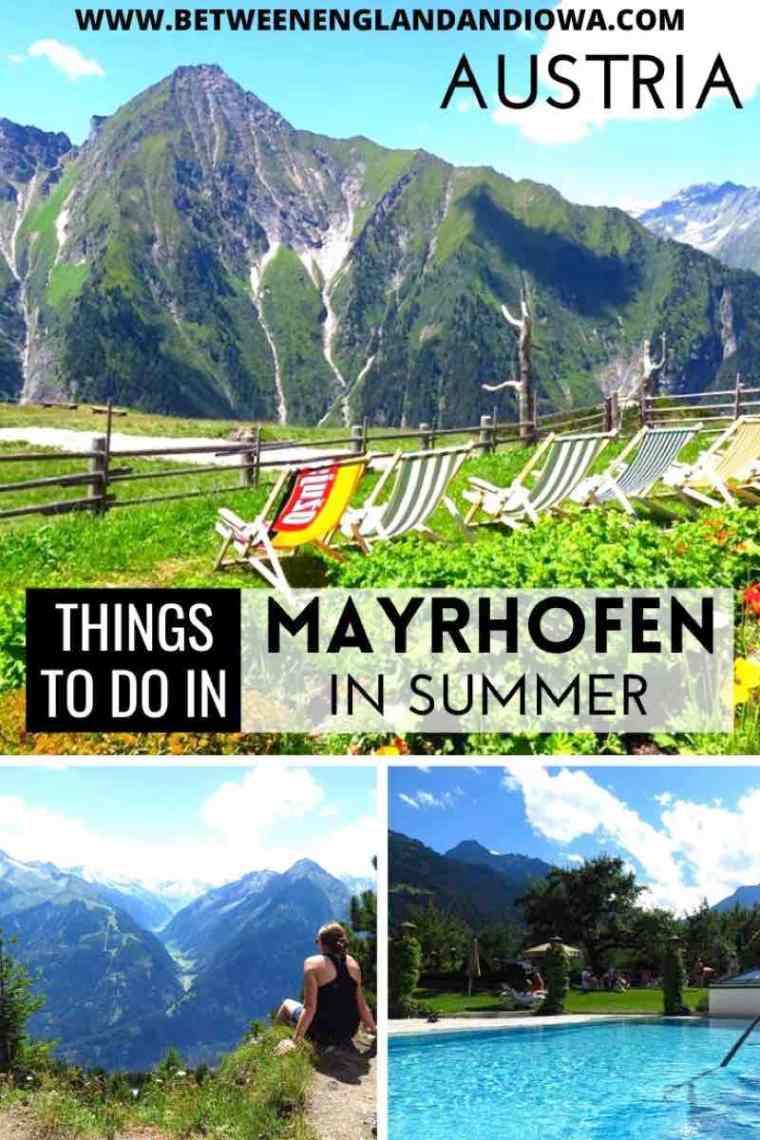 Mayrhofen Austria in Summer