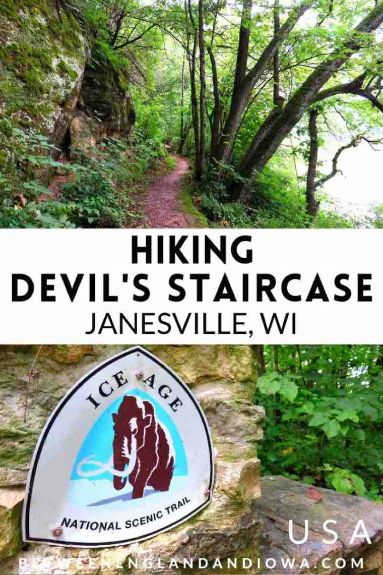 Hiking the Devil's Staircase Janesville Wisconsin Ice Age National Scenic Trail