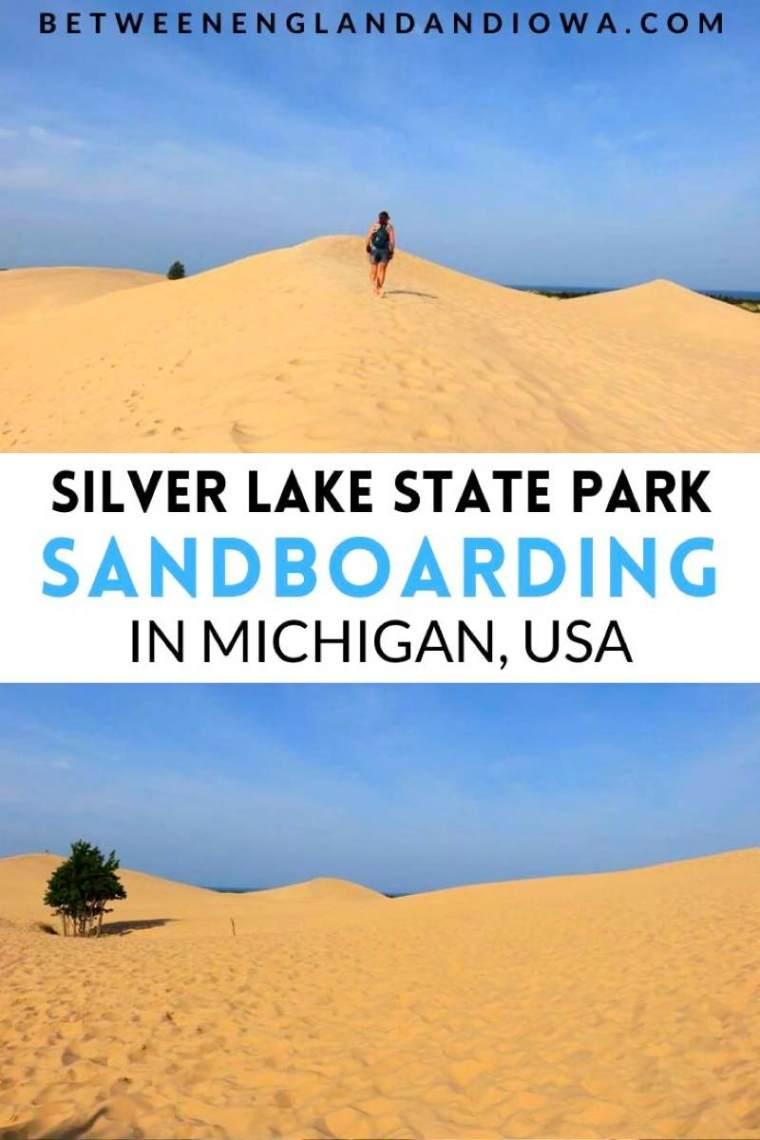 Sandboarding in Michigan USA at Silver Lake State Park