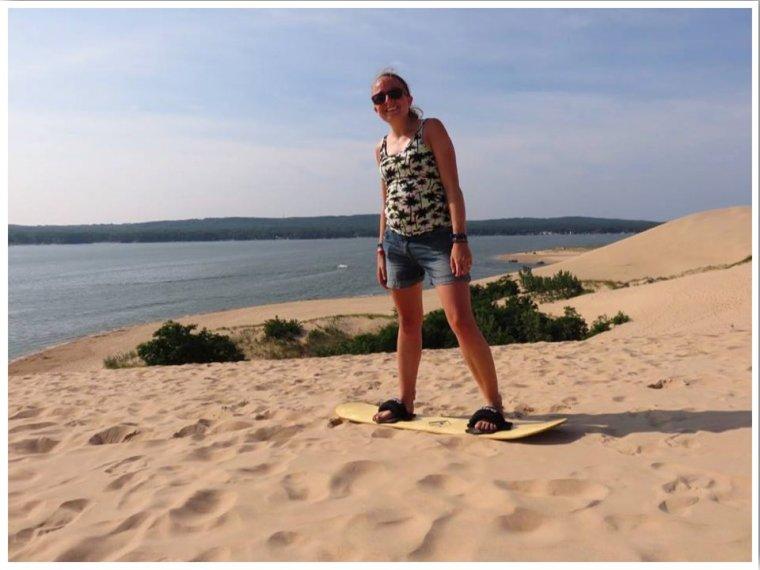 Sandboarding Michigan