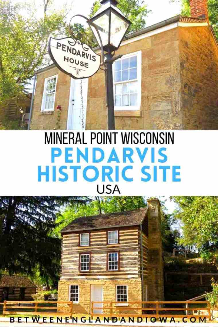 Pendarvis Historic Site in Mineral Point Wisconsin USA