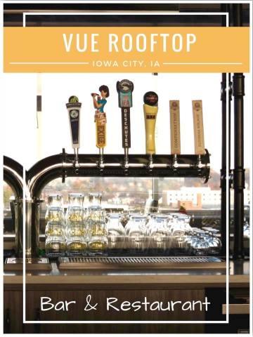 Vue Rooftop Iowa City Rooftop Bar and Restaurant