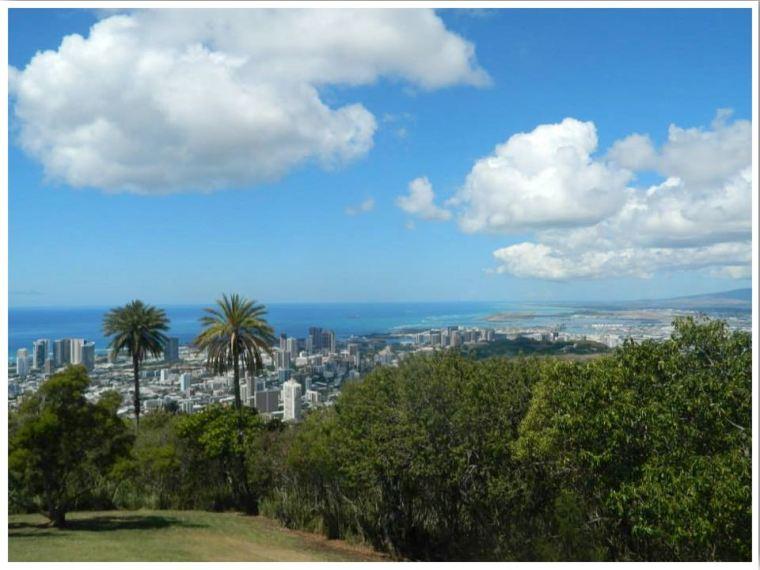 Round Top Drive Viewpoint Oahu Hawaii