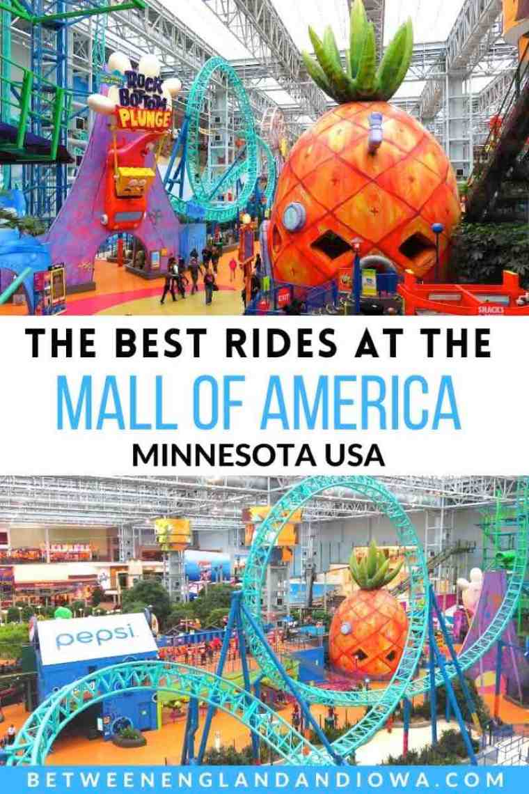 The best rides at the Mall of America in Minnesota USA
