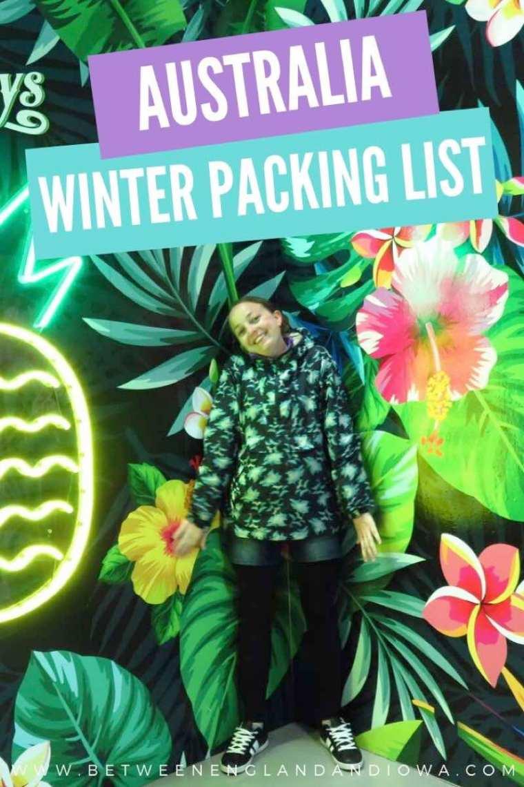 Australia winter packing list