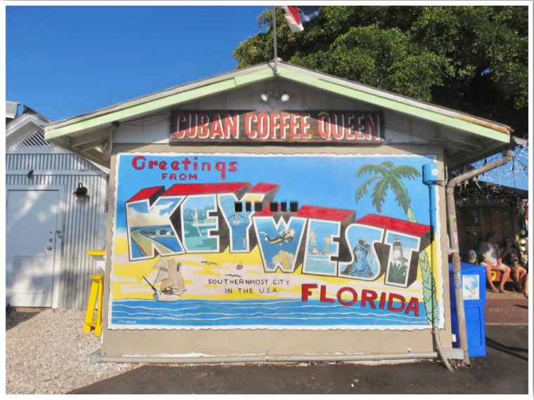 Greetings From Key West Florida Mural