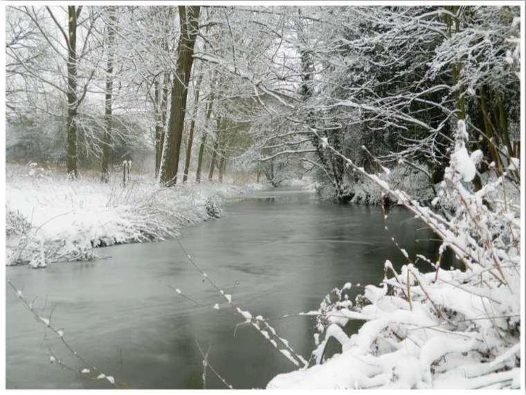 Rare English snow