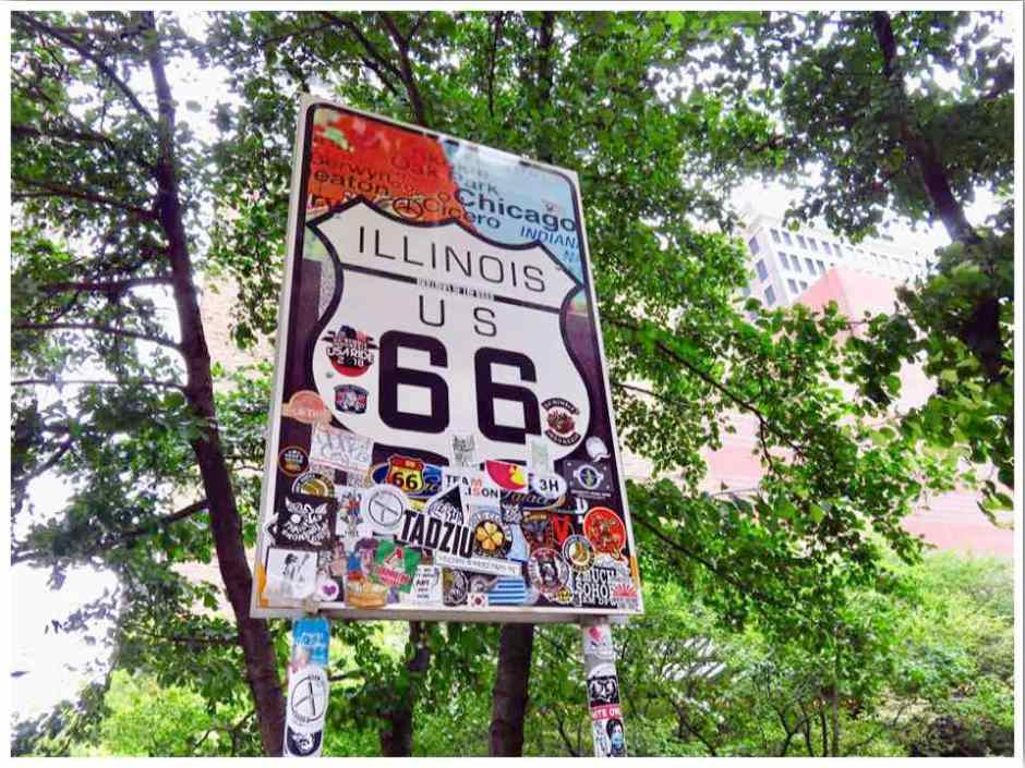 Route 66 Chicago Illinois Sign